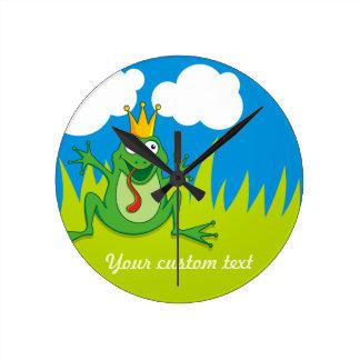 Frog王子 ラウンド壁時計