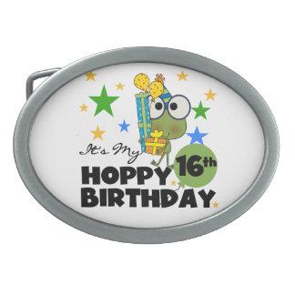 Froggieのホップの豊富な第16誕生日 卵形バックル