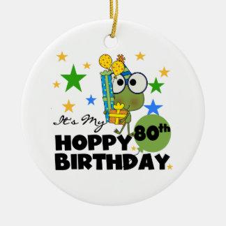 Froggieのホップの豊富な第80誕生日 セラミックオーナメント