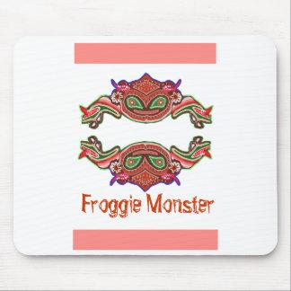 Froggieモンスター-カエルの漫画 マウスパッド