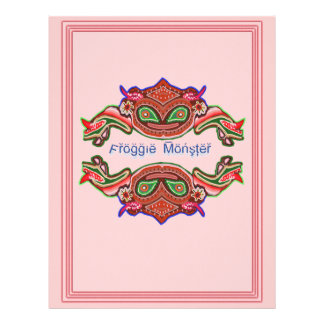 Froggieモンスター-カエルの漫画 レターヘッド