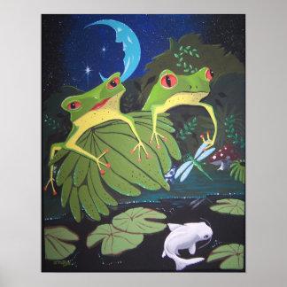 froggiesおよびコイ ポスター