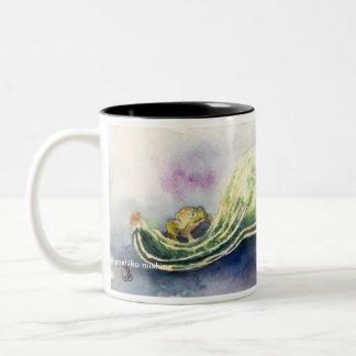 Froggyおよびひょうたん ツートーンマグカップ