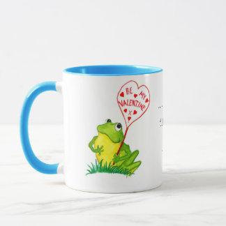 Froggyのバレンタインのマグ マグカップ