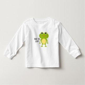 Froggyの幼児の長袖のTシャツ トドラーTシャツ