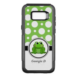 Froggyの緑の水玉模様のSamsungの銀河系S8の箱 オッターボックスコミューターSamsung Galaxy S8+ ケース