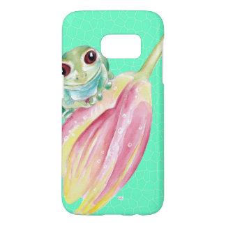 Froggyの緑 Samsung Galaxy S7 ケース