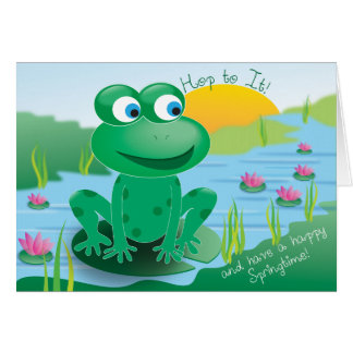Froggy -挨拶状 グリーティングカード