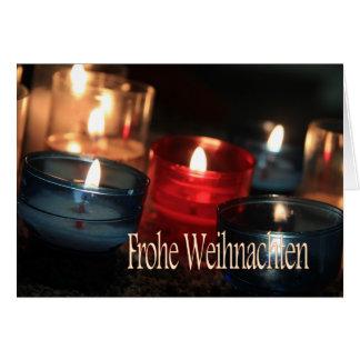 Frohe Weihnachtenの   非常に熱い蝋燭のクリスマス カード