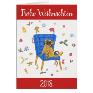 """""""Frohe Weihnachten"""" - Süße Hunde カード"""