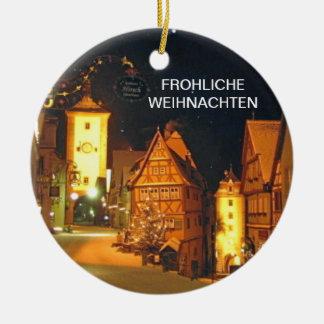 FROHLICHE WEIHNACHTEN (メリークリスマス) セラミックオーナメント