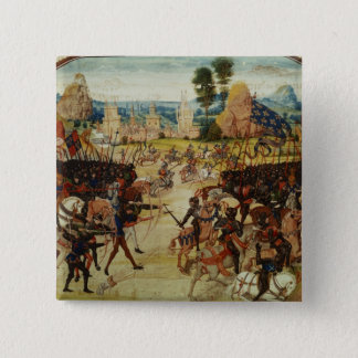 Froissartの記録からのポアティエの戦い、 5.1cm 正方形バッジ