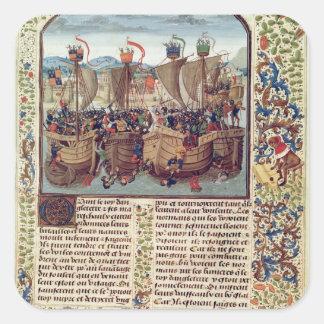「FroissartのChronicleからのEcluseの戦い、 スクエアシール