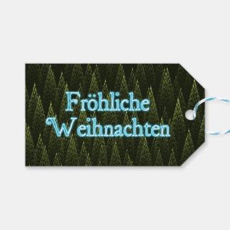 Froliche Weihnachten -針葉樹 ギフトタグ