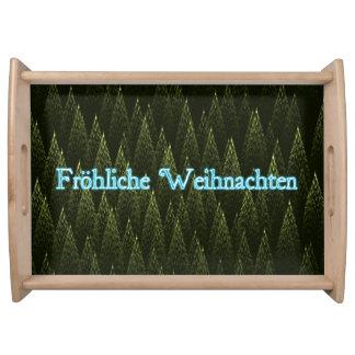Froliche Weihnachten -針葉樹 トレー