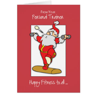 From Personal Trainer to Clients Fitness Exercise カード