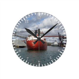 Frontenac及びSaginawの時計 ラウンド壁時計