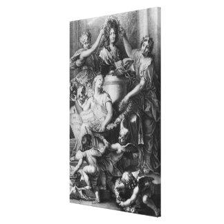 Frontispieceの「フランスのなアカデミーDictionary キャンバスプリント