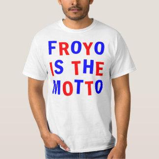 froyoはモットーです tシャツ