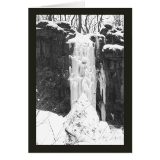 """""""FROZEN WATERFALL"""" (BLACK AND WHITE IMAGE) カード"""