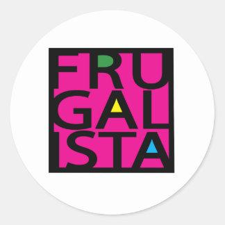 FRUGALISTA/PINK ラウンドシール