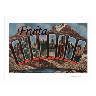 Fruita、コロラド州-大きい手紙場面 ポストカード