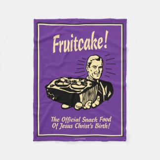 Fruitcake! イエス・キリストの誕生のスナック フリースブランケット