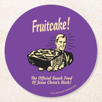 Fruitcake! イエス・キリストの誕生のスナック ラウンドペーパーコースター