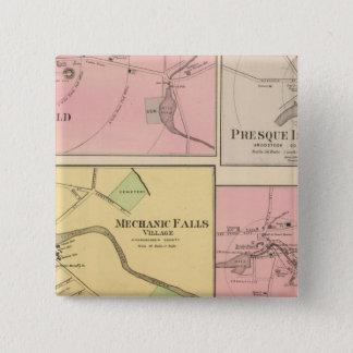 Ft FairfieldのPresqueの島、カリブー 5.1cm 正方形バッジ