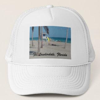 Ft Lauderdaleのビーチのライフガードの立場 キャップ