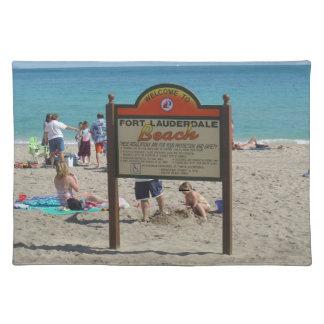 Ft Lauderdaleのビーチ ランチョンマット