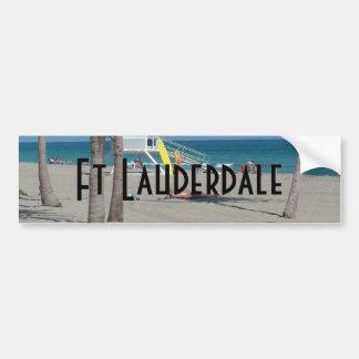 Ft Lauderdaleフロリダのライフガードの立場 バンパーステッカー