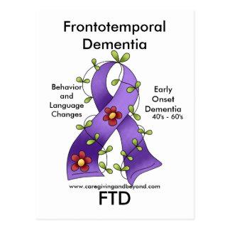 FTDのFrontotemporal痴呆のリボンの郵便はがき ポストカード
