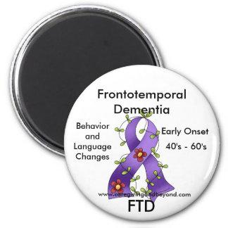 FTDのFrontotemporal痴呆の紫色のリボンの磁石 マグネット