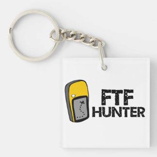 FTFのハンターGeocaching Keychain 正方形(片面)アクリル製キーホルダー