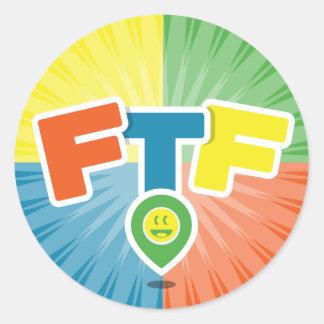 FTFの(最初に見つけるため)スワッグ ラウンドシール