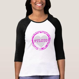 FTLOTGのソフトボールのワイシャツ-ピンクおよび灰色 Tシャツ