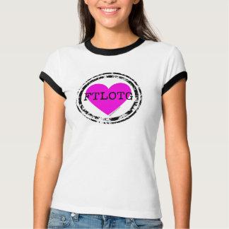 FTLOTGのソフトボールのTシャツ、ピンクおよび黒 Tシャツ