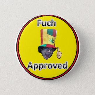 fuchの公認ボタン 5.7cm 丸型バッジ