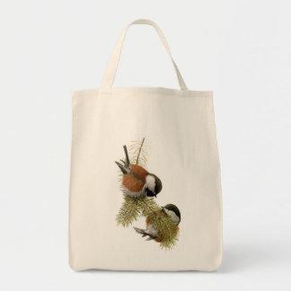 Fuertesのクリに支えられる《鳥》アメリカゴガラ トートバッグ