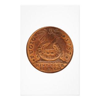 Fugioのセントの心あなたのビジネス銅のペニー 便箋