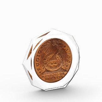 Fugioのセントの心あなたのビジネス銅のペニー 表彰盾