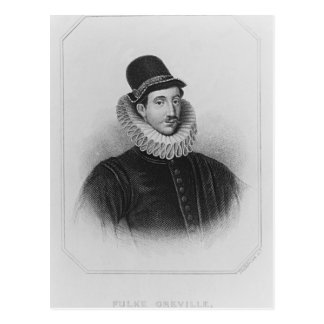 Fulke Grevilleの第1男爵のBrookeポートレート ポストカード