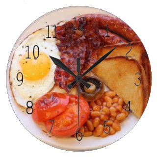 Full English breakfast novelty clock ラージ壁時計