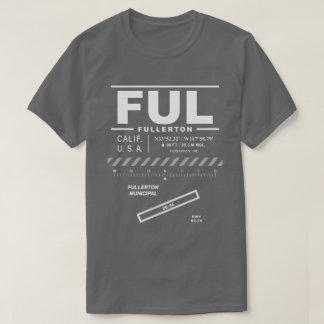 Fullerton市空港FUL Tシャツ