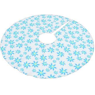 Fun Blue Floral Tree Skirt ブラッシュドポリエステルツリースカート