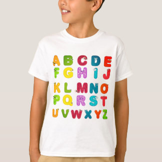 Fun Cartoon Picture Letters Alphabet Tシャツ