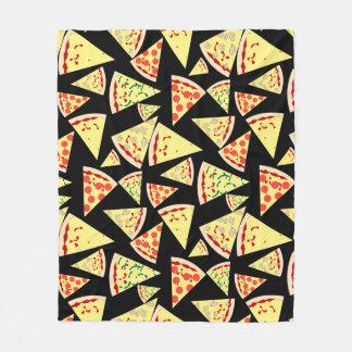 Fun Dynamic Random Pattern Pizza Lover's フリースブランケット