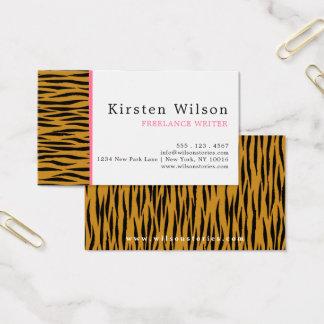 Fun Faux Tigerprint Business Card 名刺
