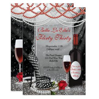 Fun Flirty Birthday Party Invitations 12.7 X 17.8 インビテーションカード